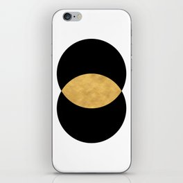 VESICA PISCES CIRCLE ABSTRACT GEOMETRIC SYMBOL iPhone Skin