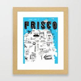 "San Francisco ""Don't Call It Frisco"" Map Framed Art Print"