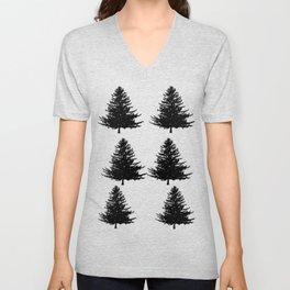 Pine Tree Silhouette Unisex V-Neck