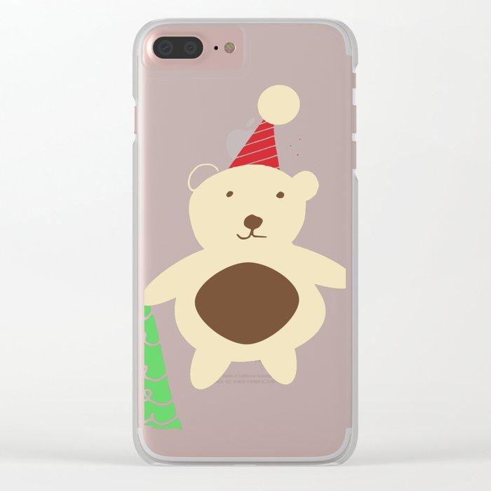 Woodland Christmas friends Clear iPhone Case