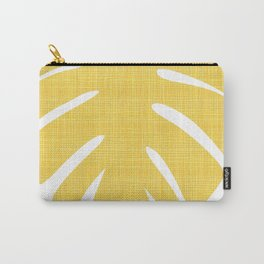 Tropical Leaf in Red and Yellow Carry-All Pouch