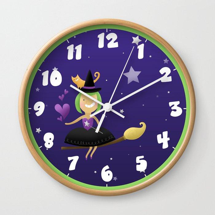 Broom Ride Wall Clock