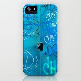 Urban Blue Style Street Graffiti iPhone Case