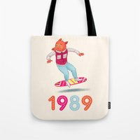 1989 Tote Bags featuring 1989 by Laura Wood