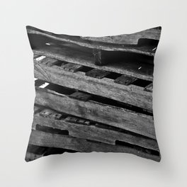 Abstract Wooden Pallets Throw Pillow