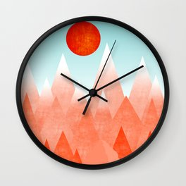 Nature on Fire Wall Clock