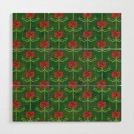Spring Roses Pattern Wood Wall Art