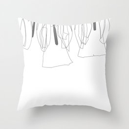J&P&G&R - B/W Throw Pillow