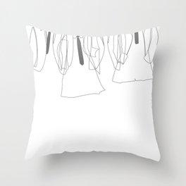 J&P&G&R - B/W Throw Pillow