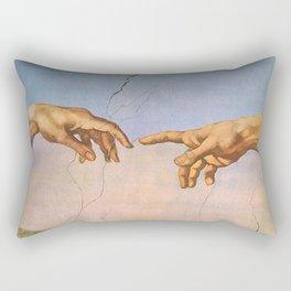 Michelangelo's Creation Rectangular Pillow