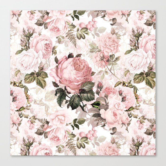 Vintage & Shabby Chic - Sepia Pink Roses  Leinwanddruck