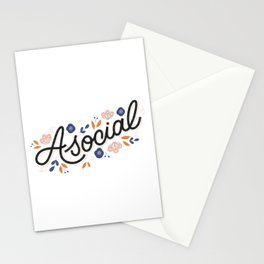 Asocial Stationery Cards
