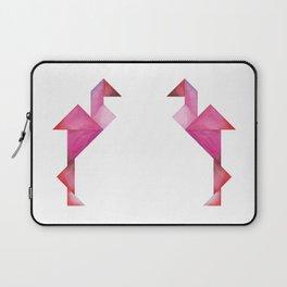 Tangram Flamingo Laptop Sleeve