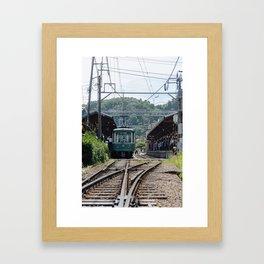 Kamakura Enoden Framed Art Print