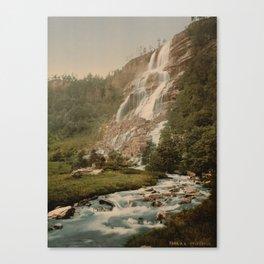 Tvinde Waterfall Canvas Print