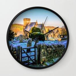 Snowshill View Wall Clock