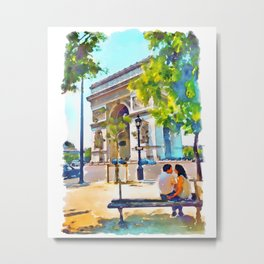 The Arc de Triomphe Paris Metal Print