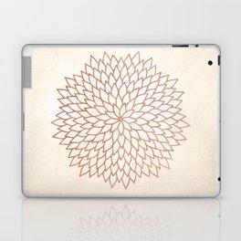 Mandala Flower Rose Gold on Cream Laptop & iPad Skin
