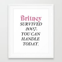 britney Framed Art Prints featuring Britney Survived, Britney. by eriicms