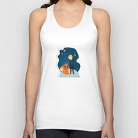 le petit prince Tank Tops featuring Le petit prince by LaFilleCoquette