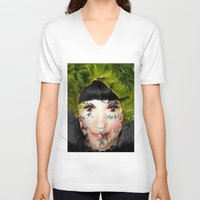 depression V-neck T-shirts featuring Depression by ADH Graphic Design
