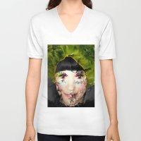 depression V-neck T-shirts featuring Depression by Amber Dawn Hilton