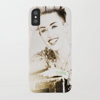 miley cyrus iPhone & iPod Cases featuring Miley Cyrus by Ylenia Pizzetti