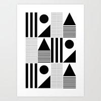 Basic Geometry Art Print