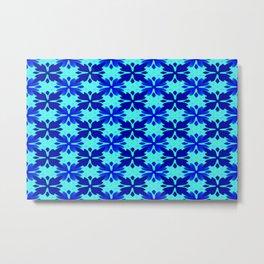 Light blue and pattern 3 ... Metal Print