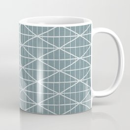 Mint green brushed crossed lines pattern Coffee Mug