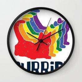 Purride LGBT Gaypride Rainbow Cat Gift Wall Clock