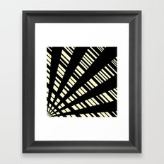 Fancy  |  Cream & Black Framed Art Print
