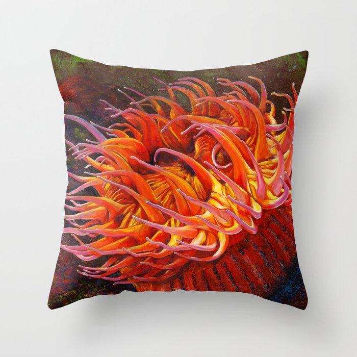 Sea Anemone Throw Pillow By Danocreative Society6