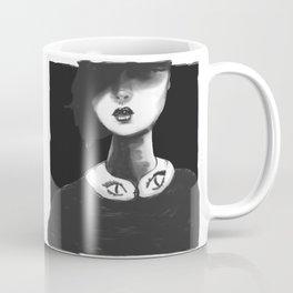 Contemporary Black and White Collar Coffee Mug