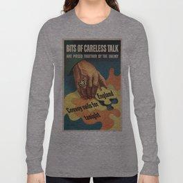 Vintage poster - Careless Talk Long Sleeve T-shirt