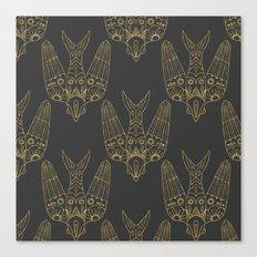 Gold Bird Pattern Canvas Print