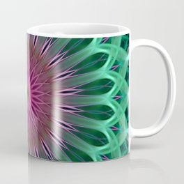 Green and red colors mandala Coffee Mug