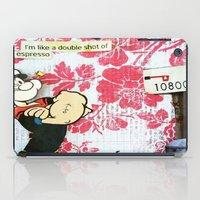 popeye iPad Cases featuring Double Shot by Natasha N. Walker