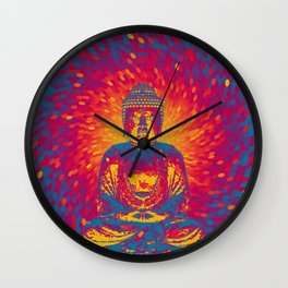 Crystal Buddha Wall Clock