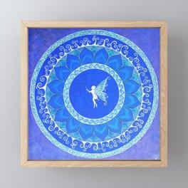 Fairy Garden white Framed Mini Art Print