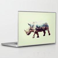 rhino Laptop & iPad Skins featuring Rhino by 83 Oranges™