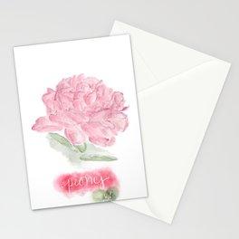 Botanical Brushstrokes ● Peony Pastel Stationery Cards