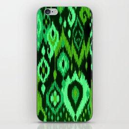MODERN IKAT TRIBAL PATTERN | green iPhone Skin