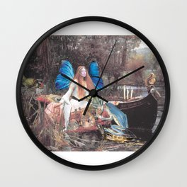 Faerie Ferry Wall Clock