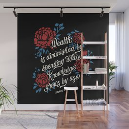 """Imam Ali: """"Wealth is diminished by spending while knowledge grows by use."""" Wall Mural"""
