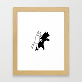 Bear shadow Framed Art Print