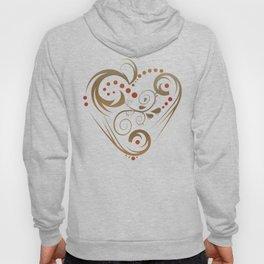GOLDEN HEART  (valentine art deco abstract love) Hoody