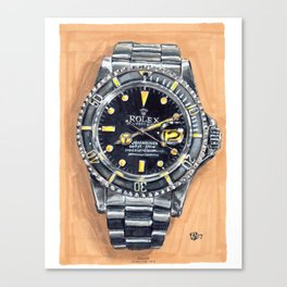 Rolex Submariner 1979, Painting Canvas Print