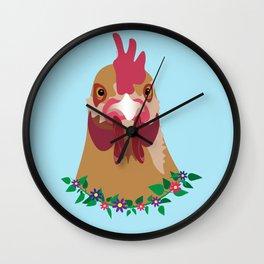Spring Chicken Wall Clock