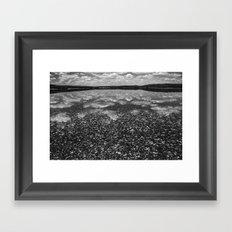 Clouds Reflected Framed Art Print